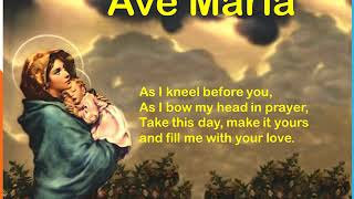 Ave Maria Gratia Plena (English Lyrics)