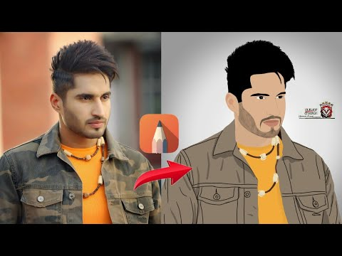 JASSI GILL ARTWORK CREATED IN AUTODESK SKETCHBOOK ANDROID || HOW TO MAKE ARTWORK FOR CELEBRITIES.