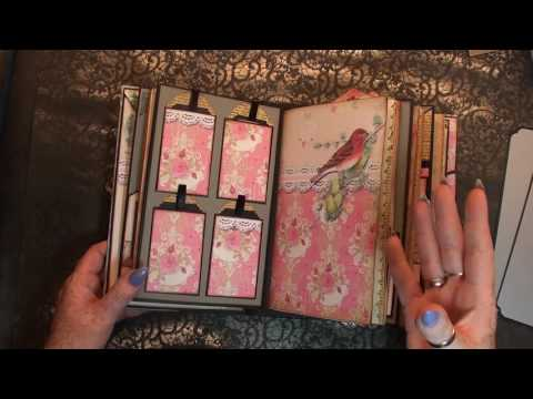 EVG design team project 'Victorian Romance' scrapbook & journal in 1 album