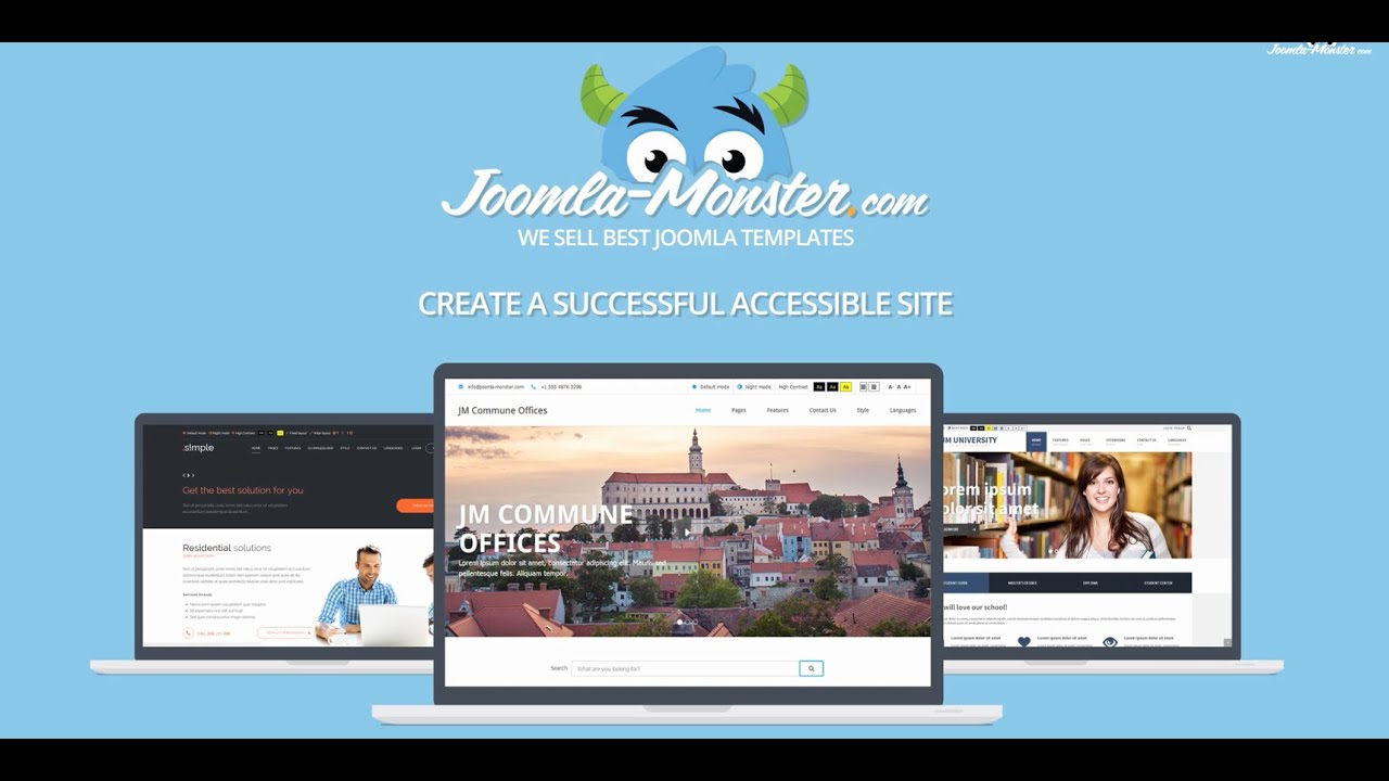 WCAG Joomla template for creating accessible website! - YouTube
