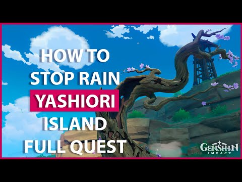 As a result of the heavy concentration of tatarigami energy, the island suffers from torrential rainfall and frequent thunderstorms in the open. How To Stop Rain In Yashiori Island Genshin Impact Youtube