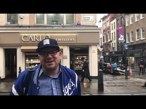 DJ TALENT  -  Hatton Garden, London England UK  EC1 (Famous Jewellery) Area