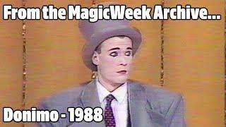 Donimo - Magician & Mime - New Faces '88 - 1988 - MagicWeek.co.uk