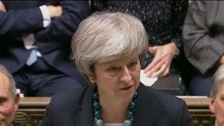 British Prime Minister Theresa May addresses U.K. Parliament over B...