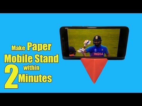 Make Paper Mobile Stand Without Glue | DIY Origami Mobile Phone Holder | Tubelife