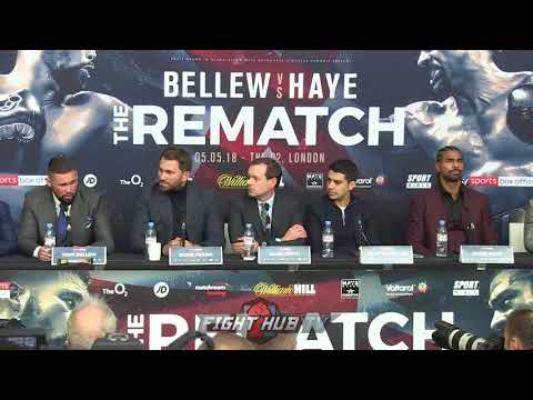 """TONY BELLEW & DAVID HAYE GO BACK & FORTH """"YOU'VE TAKEN A YEAR OUT OF MY LIFE!"""""""