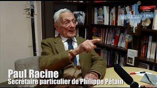 Paul Racine : à 100 ans, l'ancien secrétaire de Pétain sort de son silence