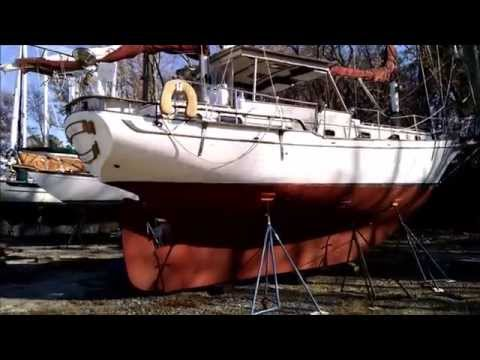 1978 Transworld 41 Ketch S/V LO-KEE Outside Tour 12/1/14 (DA