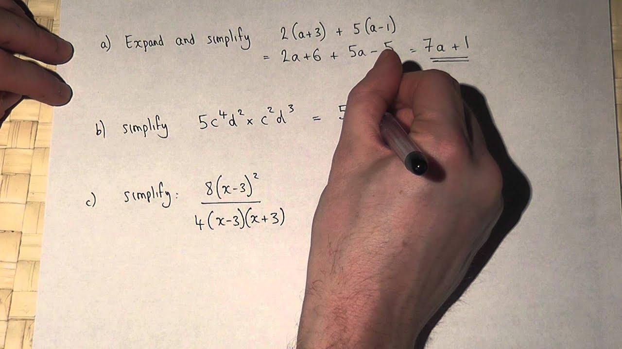 Algebra Brackets Powers And Algebraic Fractions Youtube