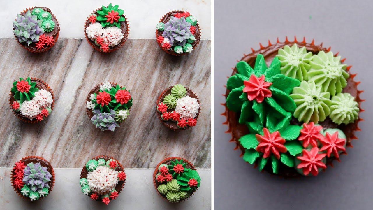 本物そっくり!観葉植物カップケーキ / Succulent Cupcakes