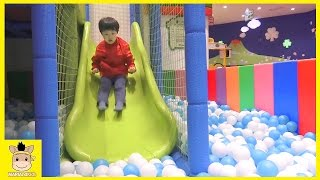 Indoor Playground Learn Kids for Play Fun Colors Color Ball Slide Family Rainbow | MariAndKids Toys