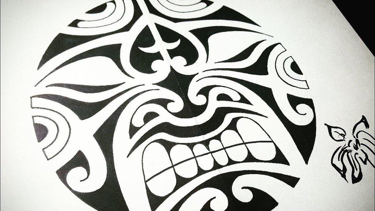 рисуем злющего тики эскизы полинезийской татуировки