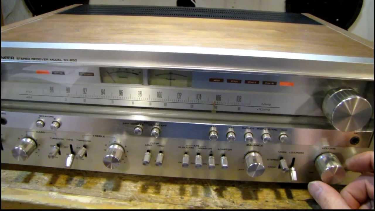 pioneer sx 850 receiver restoration youtube. Black Bedroom Furniture Sets. Home Design Ideas