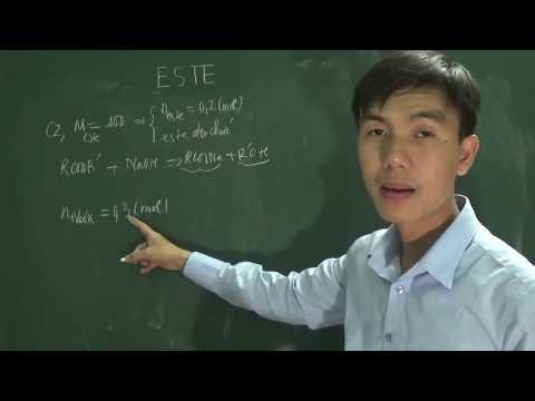 [Hóa Học 12] - Xác định CTCT Của Este Qua Phản ứng Xà Phòng Hóa