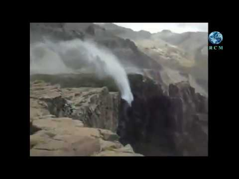 Crazy winds reverse waterfall in Chile