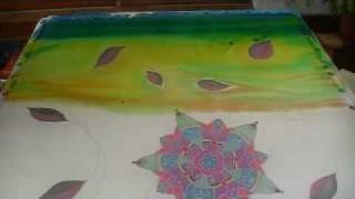Silk Painting a Background no.1 (Moroccan Summer Part 3)