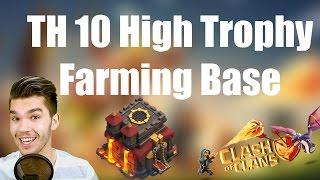 CLASH OF CLANS: TH 10 High Trophy Farm Base ✭ Let's Play Clash of Clans [Deutsch/German HD]