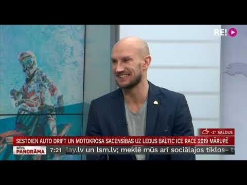 Sestdien auto drift un motokrosa sacensības uz ledus Baltic Ice Race 2019 Mārupē