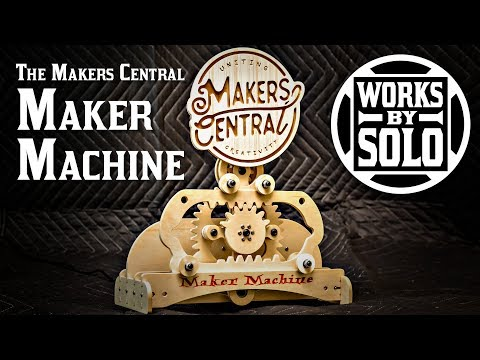 The Makers Central Maker Machine with Wooden Gears (Yes! I stuck my finger in it!)
