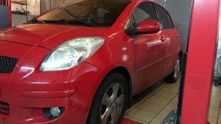 как поменять фильтр салона Toyota Yaris