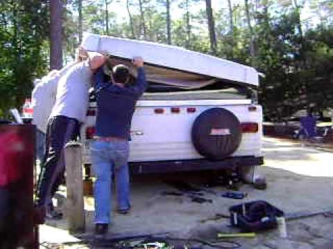 hqdefault fixing a pop up camper that won't fold down youtube