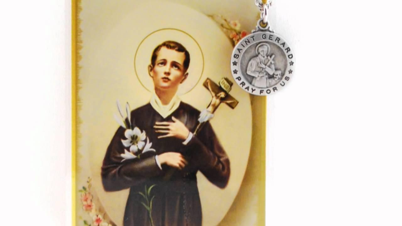 St gerard patron saint prayer card wmedal youtube st gerard patron saint prayer card wmedal aloadofball Image collections