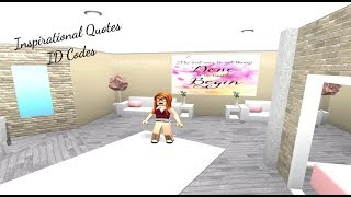 ROBLOX | Welcome to Bloxburg: Inspirational Quotes ID Codes- DaPandaGirl