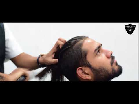 Deep Gawde Hair Studio | Freestyle Haircut & Beard | Rockstar | Post Malone