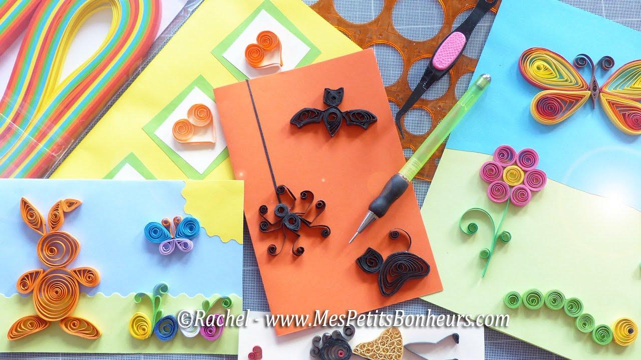 Quilling mat riel et initiation d butants aux motifs en - Vente privee materiel de bricolage ...