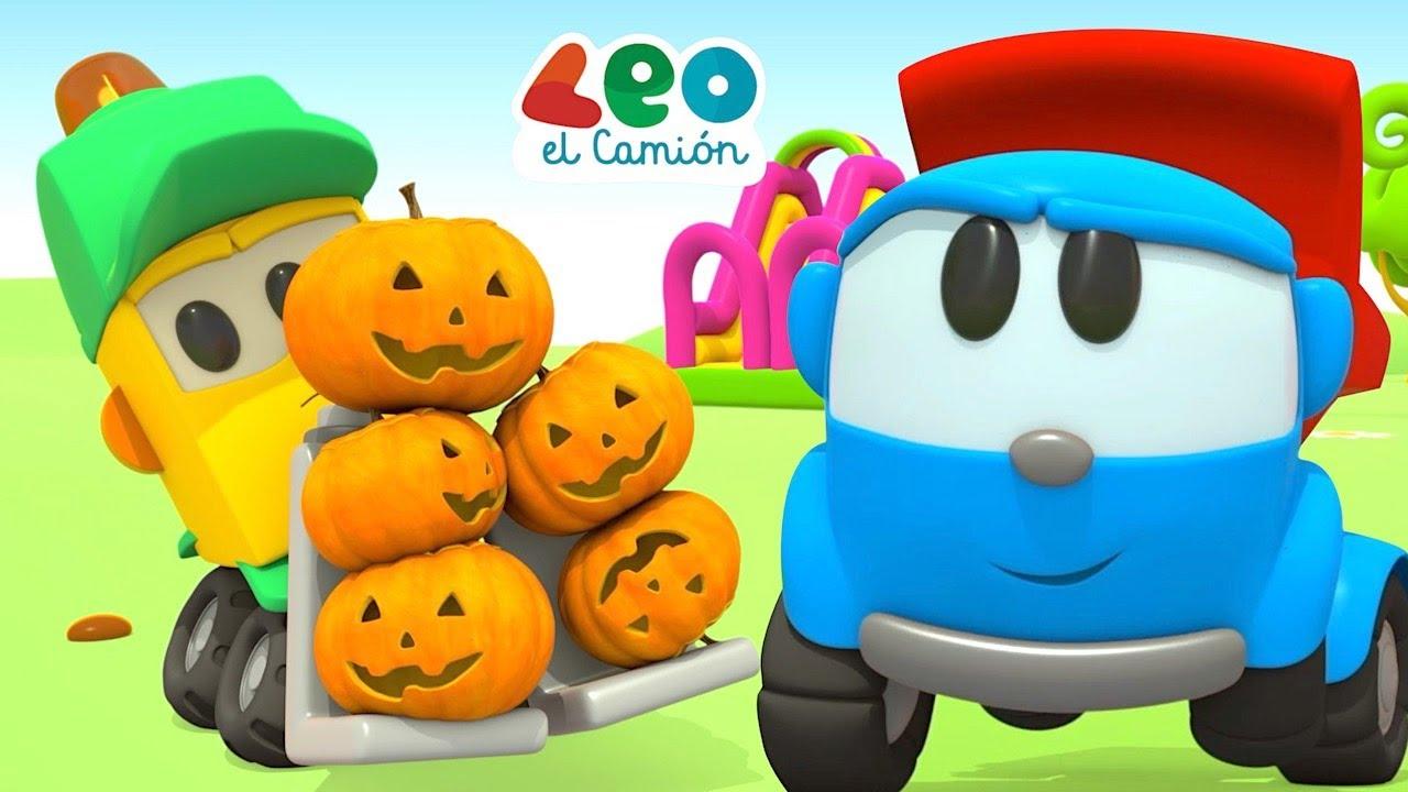 Leo el Pequeño Camión - ¡Feliz otoño con Leo y Coches Inteligentes - Colores para niños