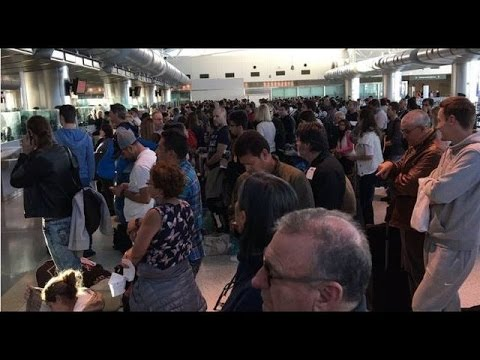 Travelers wait hours after U.S. Customs and Border Protection system shuts down