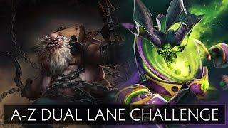 Dota 2 A-Z Dual Lane Challenge - Pudge and Pugna