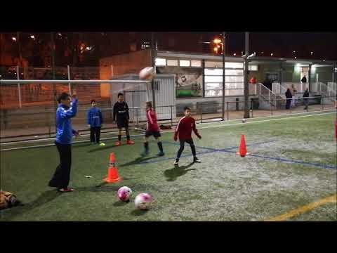 Ejercicio De Fútbol: Juego De Remates De Cabeza Con Rotación