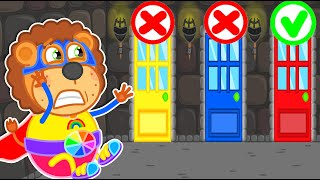 """Lion Family 🚪 """"No No"""" Don't Open the Wrong Door #2 