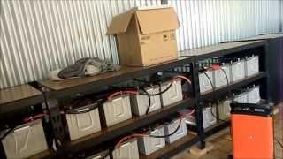Off-Grid. 65,088 watt 24v Battery Bank.
