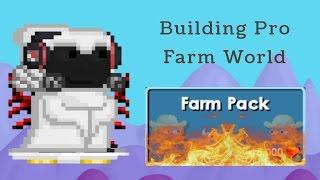 Growtopia | Building a pro farm world!