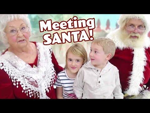 Meeting Santa and Mrs. Claus