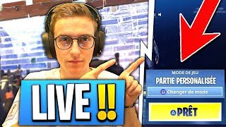 LIVE 40k ? Les *PARTIES PERSO* sont *DISPONIBLES* sur Fortnite : Battle Royale !