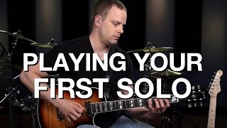 Playing Your First Guitar Solo - Lead Guitar Lesson #10