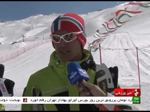 Iran Alborz province, Men & Women Mountain snow ski resort اسكي كوهستان زنان و مردان البرز ايران