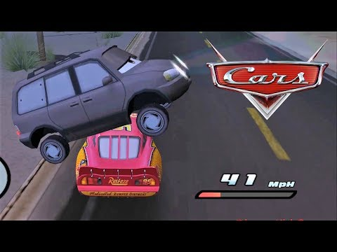 Disney Pixars Cars Movie Game - Crash Mcqueen 40 - Night Tour of Radiator Springs |