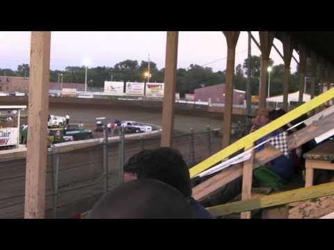 Belle Clair Speedway June 13 2014 Pure Stock Heat Race