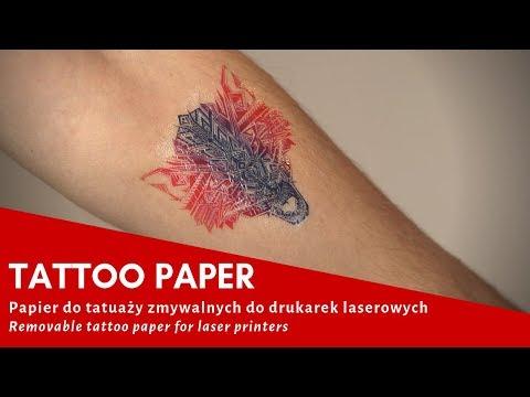 Tattoo Paper Papier Do Tatuaży Zmywalnych Do Drukarek