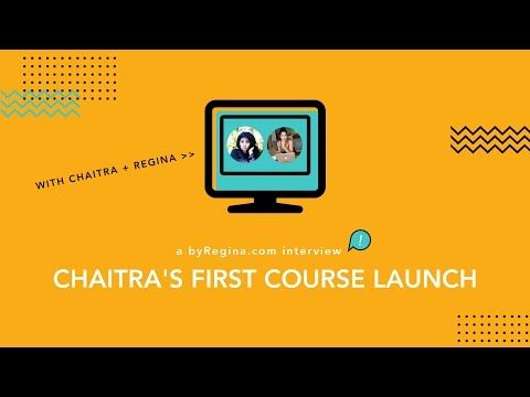 Launching Your First Online Course (an interview with Chaitra R.)