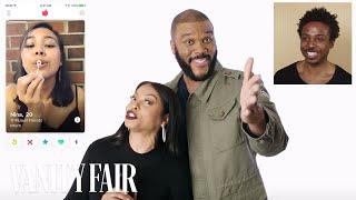 Taraji P. Henson and Tyler Perry Hijack a Stranger's Tinder | Vanity Fair thumbnail