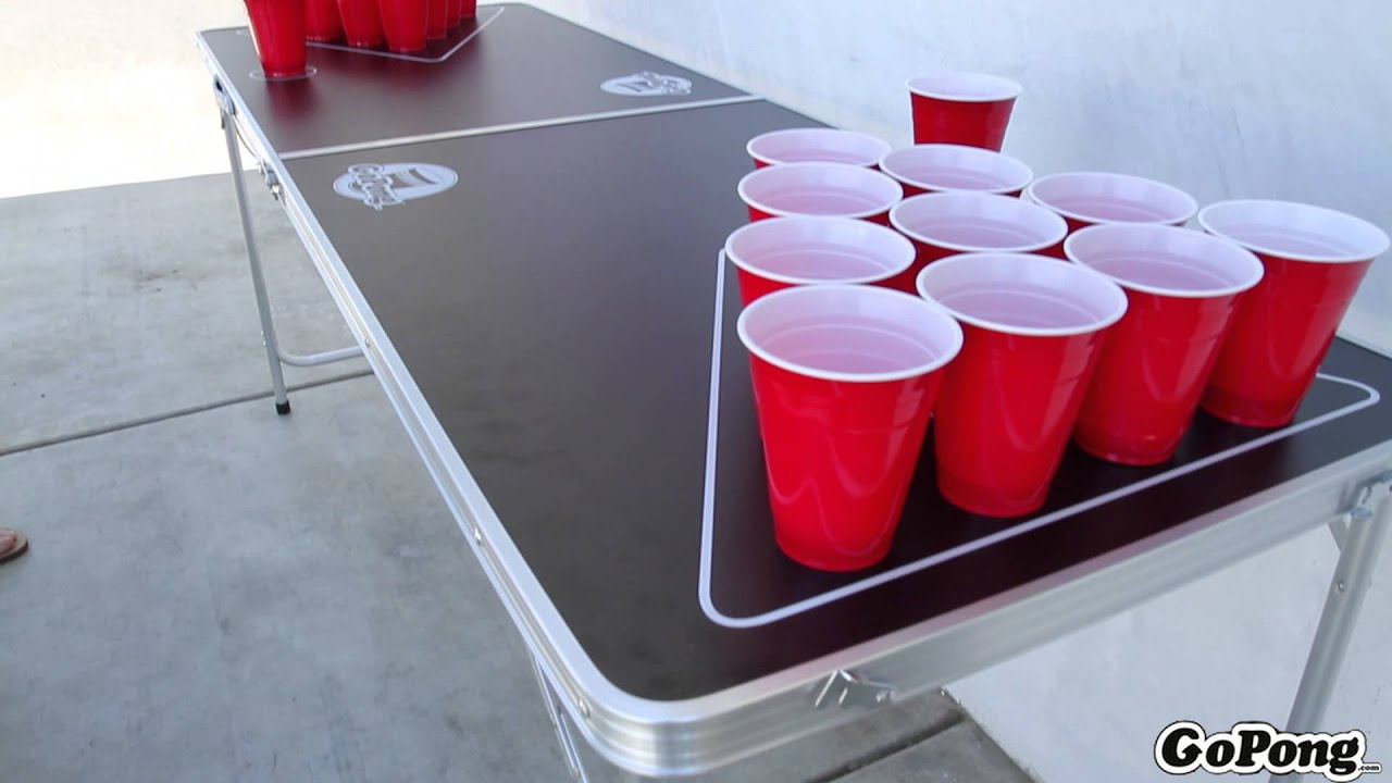 & GoPong 6FT Beer Pong Table - YouTube