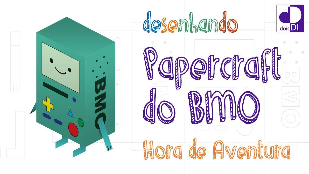Papercraft Desenhando Papercraft do BMO