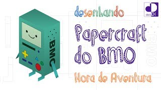 Desenhando Papercraft do BMO