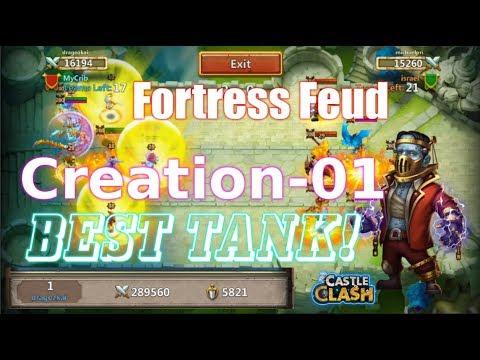 BEST TANK Creation-01 Fortress Feud INSANE HERO! Castle Clash