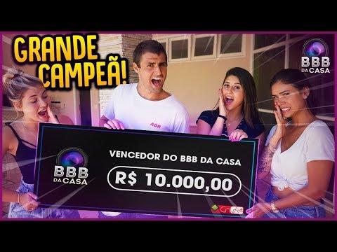 GRANDE CAMPEÃ DO BBB DA CASA!! - BBB DA CASA [ REZENDE EVIL ]